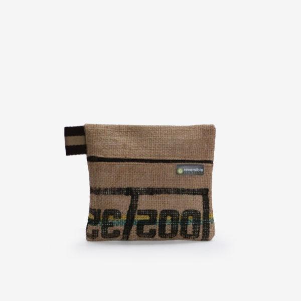 Trousse en toile de sac de transport de café lettres noires .