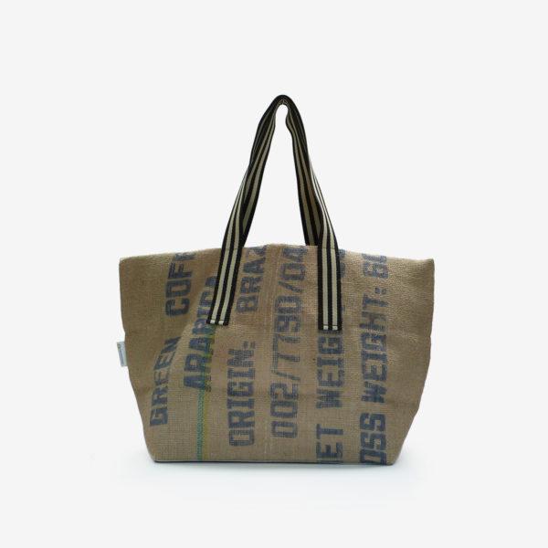 02 Cabas en toile de sac de transport de café importé du Bresil.