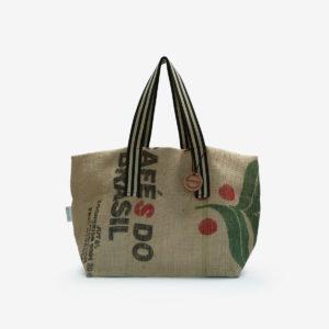 01 Cabas en toile de sac de transport de café importé du Bresil.