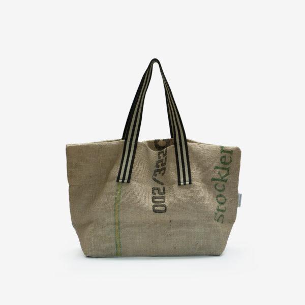 Dos de Cabas en toile de sac de transport de café importé du Bresil.