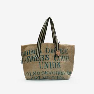 04 Cabas en toile de sac de transport de café importé du Bresil.