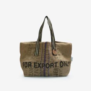 05 Cabas en toile de sac de transport de café.