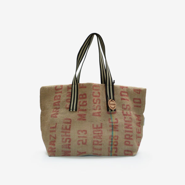 06 Cabas en toile de sac de transport de café.