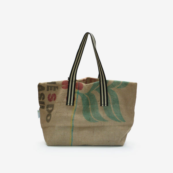 Dos 06 Cabas en toile de sac de transport de café.