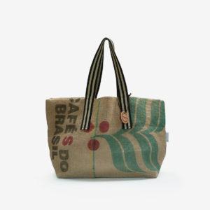 07 Cabas en toile de sac de transport de café.