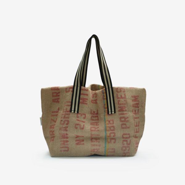 Dos 07 Cabas en toile de sac de transport de café.