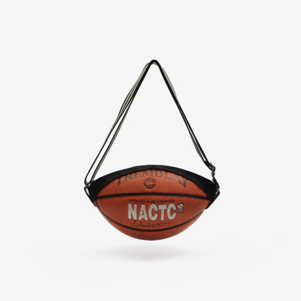 Sac en ballon de basket recyclé orangé NATC.