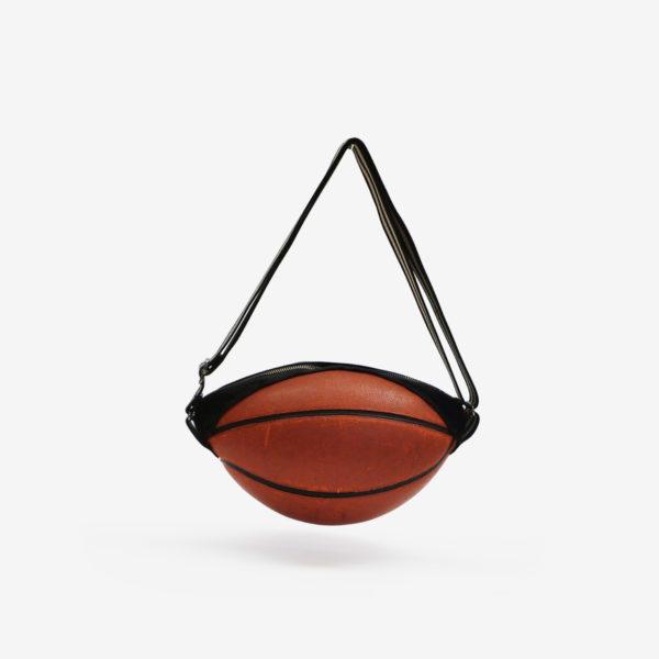 Dos de sac en ballon de basket recyclé orangé NATC.
