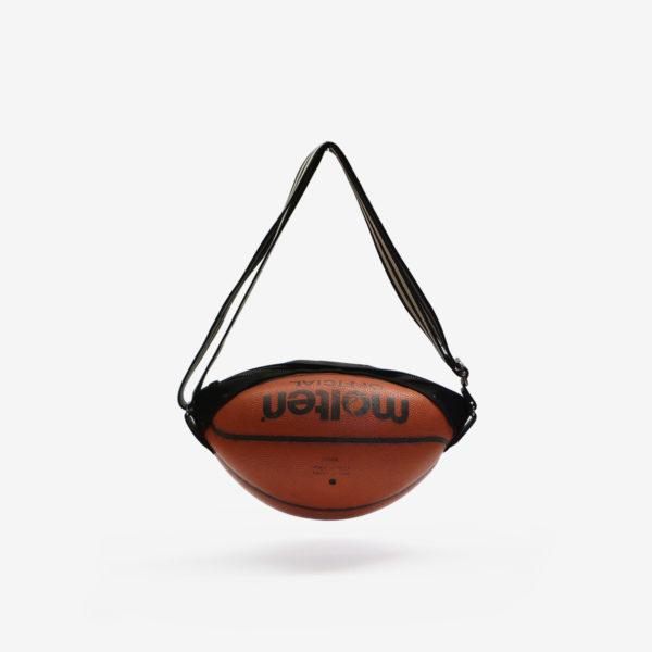 Dos de sac en ballon de basket recyclé orangé Molten.