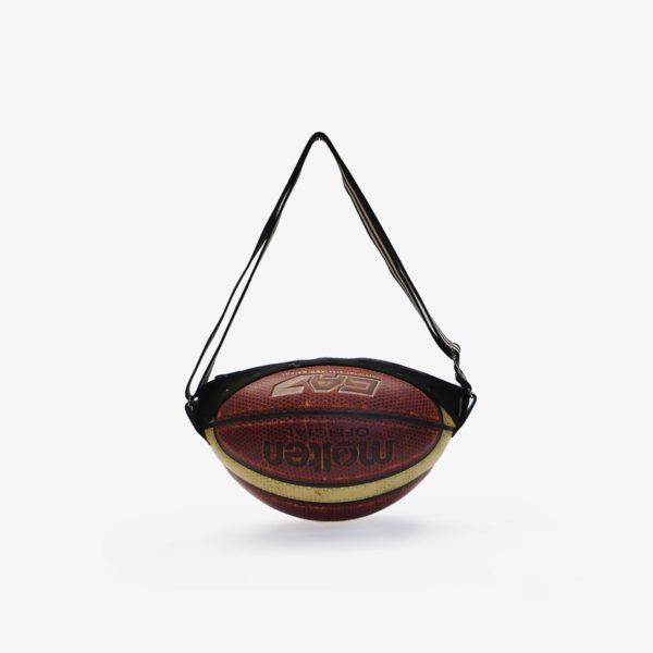 Dos de sac en ballon de basket recyclé bicolore Molten.