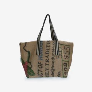 Cabas en toile de sac de transport de café importé du Honduras.