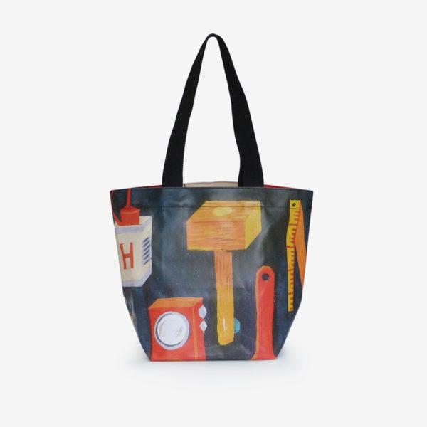 sac cabas en bâche publicitaire colorée