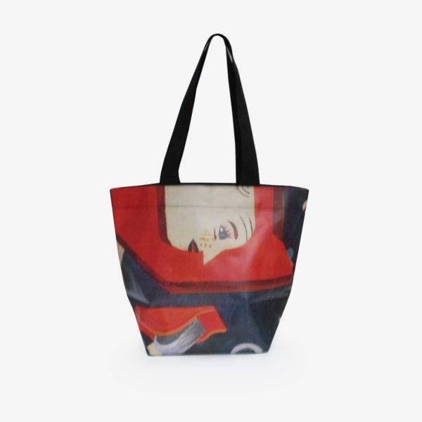 dos de sac cabas en bâche publicitaire colorée