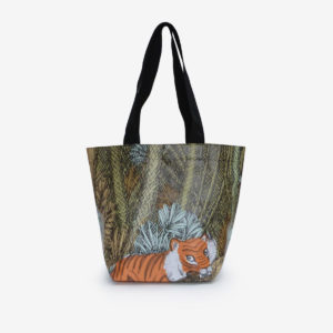 sac cabas en bâche publicitaire illustration de tigre.