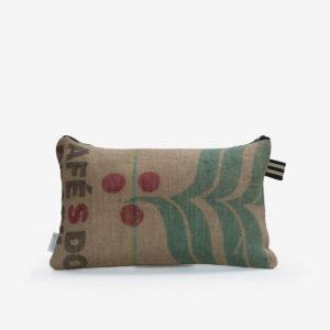 2 Housse de coussin en sac de transport de café.
