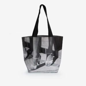 Sac cabas photo noir et blanc en bâche publicitaire