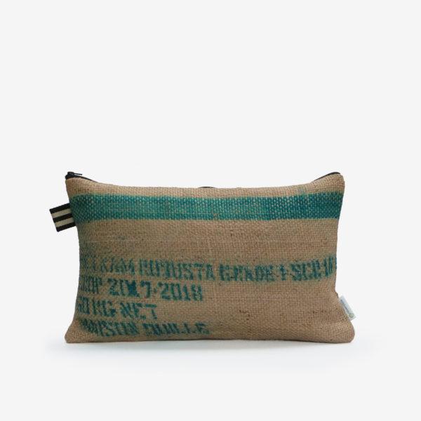 4 Housse de coussin en sac de transport de café.
