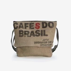 3 Besace en sac de toile de café.