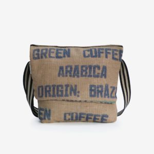 4 Besace en sac de toile de café.