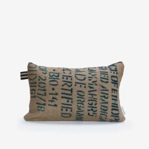 5 Housse de coussin en sac de transport de café.