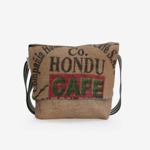 7 Besace en sac de toile de café.