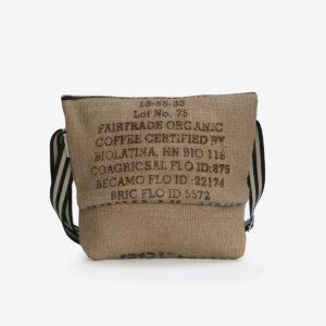 9 Besace en sac de toile de café.