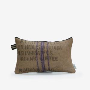 7 Housse de coussin en sac de transport de café.