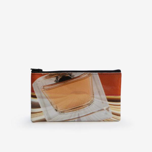 26dos Trousse plate en bâche publicitaire recyclée orange.