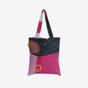 06 tote bag en toile publicitaire rose fushia.