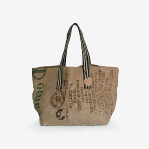 10 Cabas en toile de sac de transport de café.
