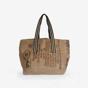 11 Cabas en toile de sac de transport de café.