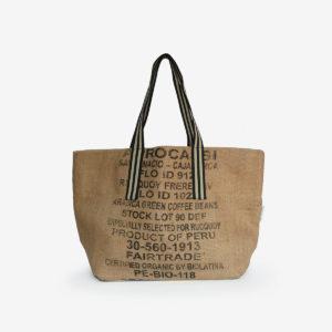 12 Cabas en toile de sac de transport de café.