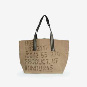 13 Cabas en toile de sac de transport de café importé du Honduras.