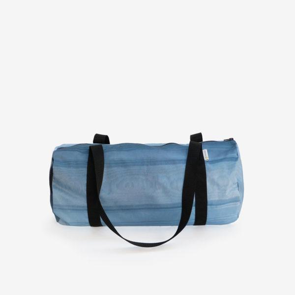 14 sac de sport en toile publicitaire bleue.