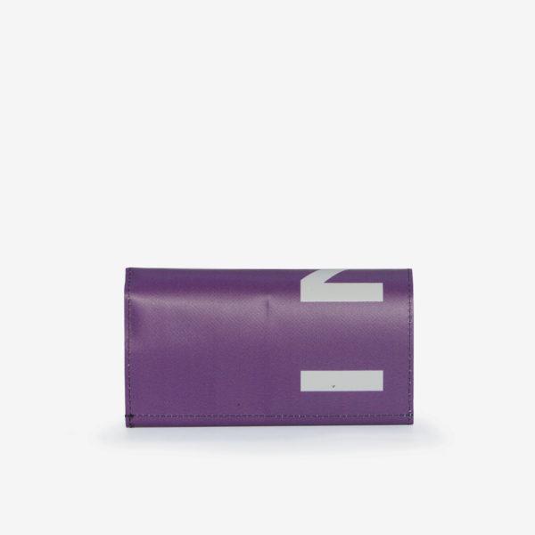 47 Dos de Portefeuille en bâche publicitaire violette.