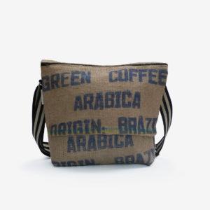55 Besace en sac de toile de café.