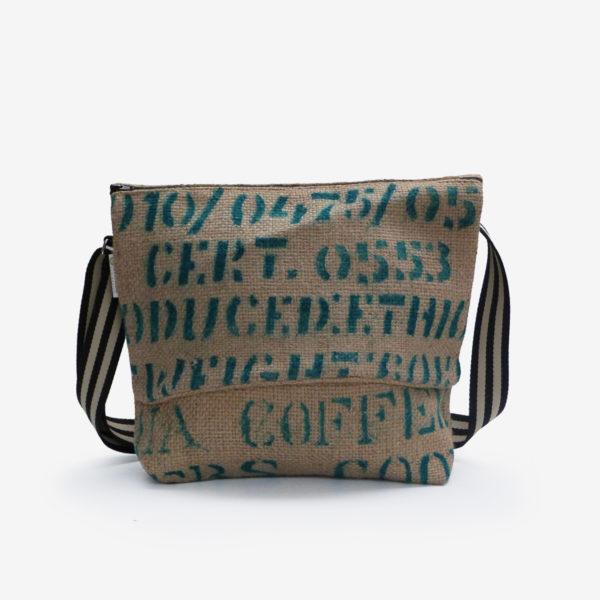 56 Besace en sac de toile de café.