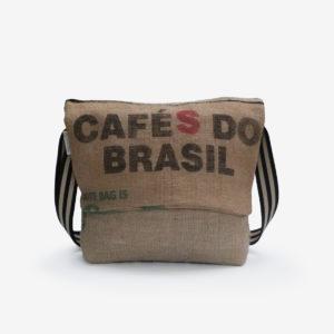 58 Besace en sac de toile de café.