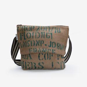 59 Besace en sac de toile de café.