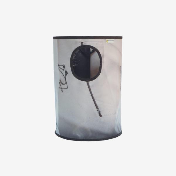 18 corbeille en bâche publicitaire recyclée blanche