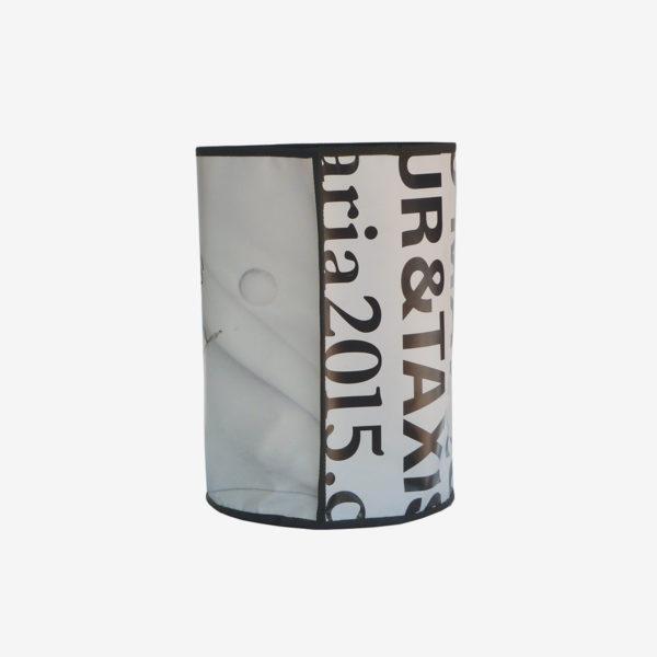 18bis corbeille en bâche publicitaire recyclée blanche