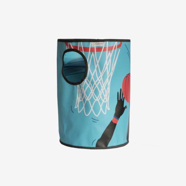 16 corbeille bleue en bache publicitaire recyclee reversible eco design