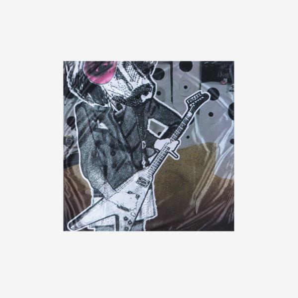 15 Furoshiki déplié en toile publicitaire.