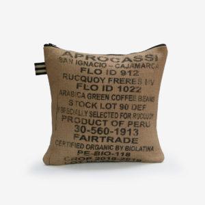 9 housse de coussin carrée en toile de jute de café