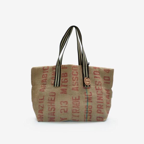 16 Cabas en toile de sac de transport de café.