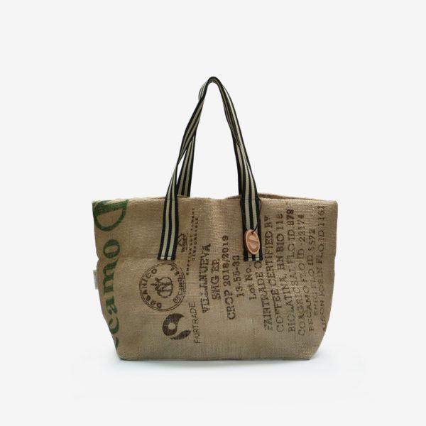 17 Cabas en toile de sac de transport de café.