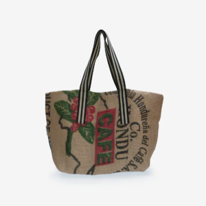 18 Cabas en toile de sac de transport de café.