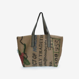 19 Cabas en toile de sac de transport de café.