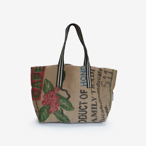 21 Cabas en toile de sac de transport de café.