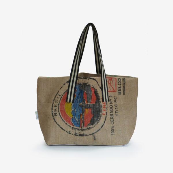 22 Cabas en toile de sac de transport de café.